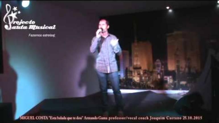 "Miguel Costa ""Esta balada que te dou"" Armando Gama"