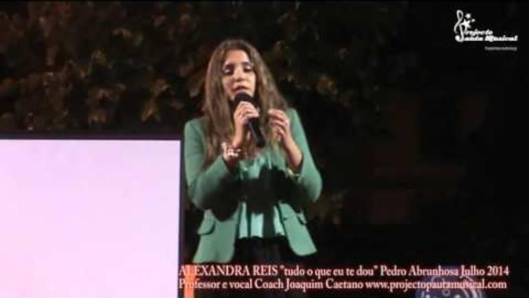"""Alexandra Reis """"tudo o que eu te dou"""" Pedro Abrunhosa"""