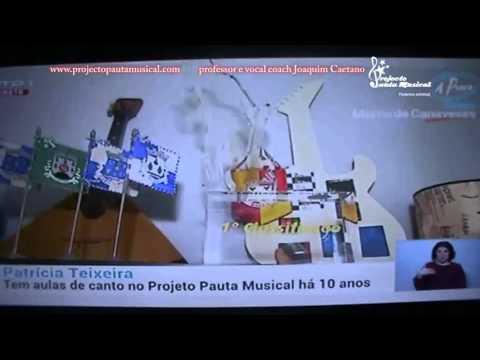 """Professor e Vocal Coach Joaquim Caetano entrevista na RTP1 """"A praça"""""""